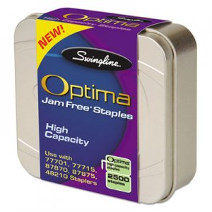 "Swingline GBC 35550 Optima High-Capacity Staples, 3/8"" Leg, 2,500/Box"