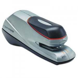 Swingline GBC 48207 Optima Grip Electric Stapler, Half Strip, Auto/Manual, 20 Sheets, Silver