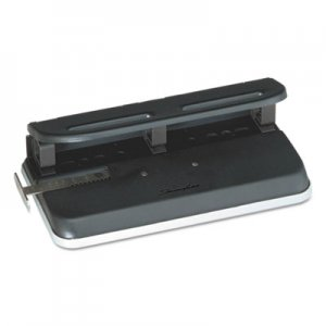 "Swingline GBC 74150 24-Sheet Easy Touch Two-to-Seven-Hole Precision-Pin Punch, 9/32"" Holes, Black"