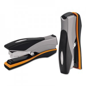 Swingline GBC 87845 Optima Desktop Staplers, Full Strip, 40-Sheet Capacity, Silver/Black/Orange