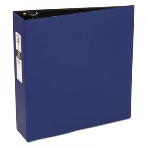 "Avery AVE03601 Economy Non-View Binder with Round Rings, 11 x 8 1/2, 3"" Capacity, Blue"