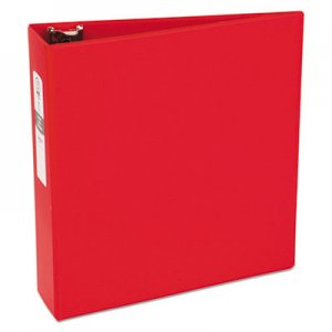 "Avery AVE03608 Economy Non-View Binder with Round Rings, 11 x 8 1/2, 3"" Capacity, Red"