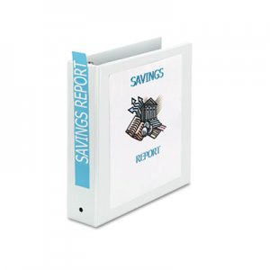 "Avery 05731 Economy View Binder w/Round Rings, 11 x 8 1/2, 2"" Cap, White"