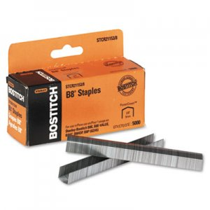 "Bostitch BOSSTCR211538 B8 PowerCrown Premium Staples, 3/8"" Leg Length, 5000/Box"