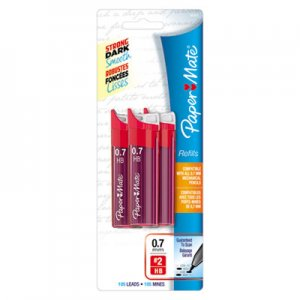 Paper Mate 66401PP Lead Refills, 0.7mm, HB, Black, 3 Tubes of 35, 105/Pack