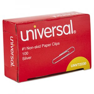 Genpak UNV72230 Paper Clips, Small (No. 1), Silver, 100 Clips/Box, 10 Boxes/Pack