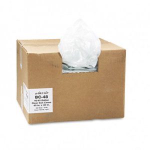 Classic Clear 404616C Clear Low-Density Can Liners, 40-45 gal, .6 mil, 40 x 46, Clear, 250/Carton