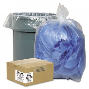 Classic Clear 242315C Clear Low-Density Can Liners, 7-10 gal, .6 mil, 24 x 23, Clear, 500/Carton