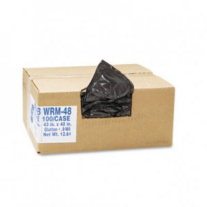 Classic 434722G 2-Ply Low-Density Can Liners, 56 gal, .8 mil, 43 x 48, Brown, 100/Carton