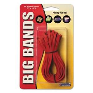 Alliance 00700 Big Bands Rubber Bands, 7 x 1/8, Red, 12/Pack
