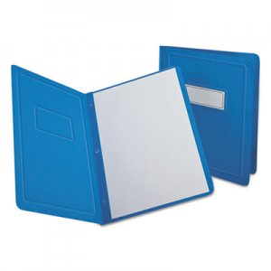 Oxford OXF52501 Report Cover, 3 Fasteners, Panel and Border Cover, Letter, Light Blue, 25/Box