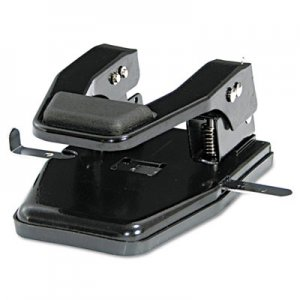"Master MP250 40-Sheet Heavy-Duty Two-Hole Punch, 9/32"" Holes, Padded Handle, Black"