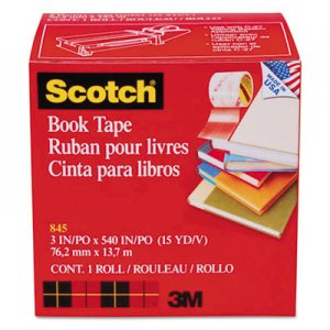 "Scotch MMM8453 Book Repair Tape, 3"" x 15yds, 3"" Core"