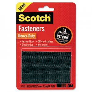 "Scotch RFD7091 Hook and Loop Fastener Tape, 2"" x 3"", two sets, Black"