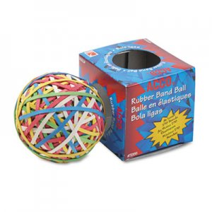 ACCO 72155 Rubber Band Ball, Approximately 250 Rubber Bands, Assorted