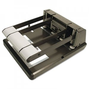 Bostitch 03200 160-Sheet Capacity Xtreme Duty Adjustable Hole Punch, Antimicrobial, BK/Silver