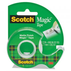 "Scotch 119 Magic Tape w/Refillable Dispenser, 1/2"" x 800"", Clear"