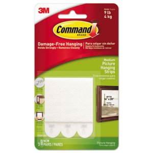 "Command 17201ES Picture Hanging Removable Interlocking Fasteners, 3/4"" x 2 3/4"", Set of 3"