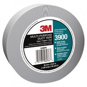 3M 3900 Poly-Coated Cloth Duct Tape, General Maintenance, 48mm x 54.8m, Silver