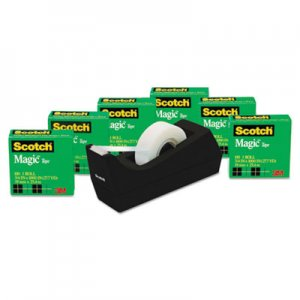 "Scotch 810K6C38 Magic Tape Value Pack with C38 Dispenser, 3/4"" x 1000"" Tape, 6/Pack"