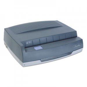 "Swingline GBC 9800350 50-Sheet 350MD Electric Three-Hole Punch, 9/32"" Holes, Gray"