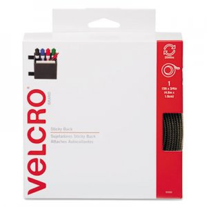 Velcro 90083 Sticky-Back Hook and Loop Fastener Tape with Dispenser, 3/4 x 15 ft. Roll, Beige
