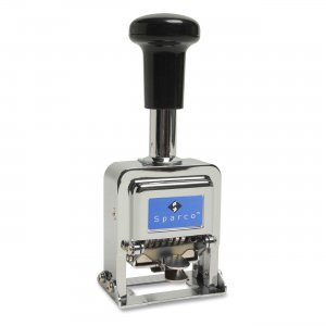 Sparco 80057 Self-Inked 5 Wheels Automatic Numbering Machine