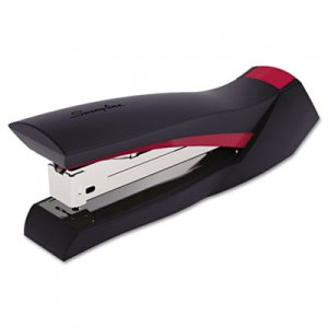 Swingline SWI79411 SmoothGrip Stapler, 20-Sheet Capacity, Black/Red