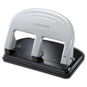PaperPro 2240 inPRESS Three-Hole Punch, 40-Sheet Capacity, Black/Silver
