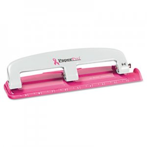 PaperPro ACI2188 inCOURAGE Three-Hole Punch, 12-Sheet Capacity, Pink