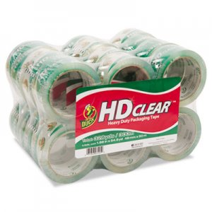 "Duck 393730 Heavy-Duty Carton Packaging Tape, 1.88"" x 55yds, Clear, 24/Pack"