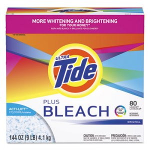 Tide 84998 Laundry Detergent with Bleach, Original Scent, Powder, 144 oz Box