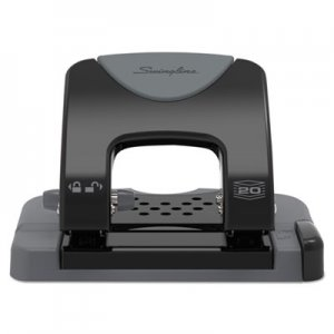 "Swingline SWI74135 20-Sheet SmartTouch Two-Hole Punch, 9/32"" Holes, Black/Gray"