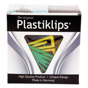 Baumgartens LP1700 Plastiklips Paper Clips, Extra Large, Assorted Colors, 50/Box