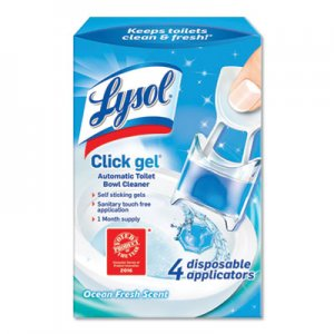 LYSOL Brand RAC92918CT Click Gel Automatic Toilet Bowl Cleaner, Ocean Fresh, 0.68 oz, 4/Box, 5 Boxes/Carton