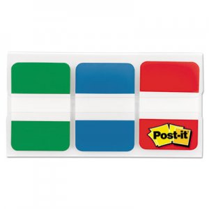 "Post-it Tabs MMM686GBR 1"" Tabs, 1/5-Cut Tabs, Assorted Primary Colors, 1"" Wide, 66/Pack"