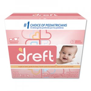 Dreft PGC85882 Ultra Powdered Laundry Detergent, Baby Powder Scent, 53 oz Box, 4/Carton