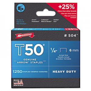 Arrow ARR504 T50 Heavy Duty Staples, 3/8""