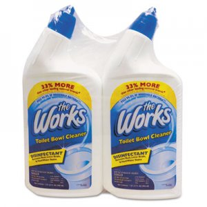The Works KIK33302WKCT Disinfectant Toilet Bowl Cleaner, 32 oz Spray Bottle, 2/PK,6 PK/CT