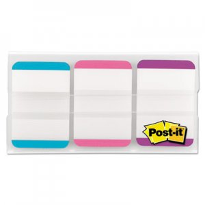 "Post-it Tabs MMM686LAPV 1"" Tabs, 1/5-Cut Tabs, Lined, Assorted Pastels, 1"" Wide, 66/Pack"