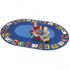 Carpets for Kids 2616 Reading By The Book Oval Area Rug