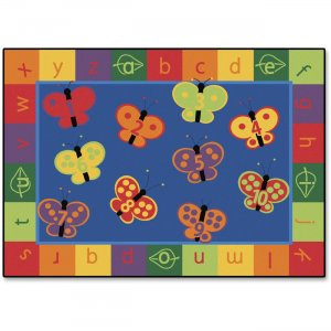 Carpets for Kids 3513 123 ABC Butterfly Fun Rectangle Rug