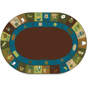 Carpets for Kids 37706 Learning Blocks Nature Oval Rug