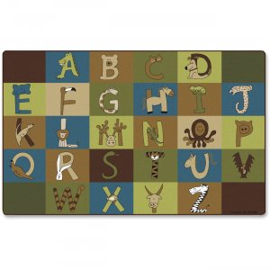 Carpets for Kids 55762 A-Z Animals Nature 12' Area Rug