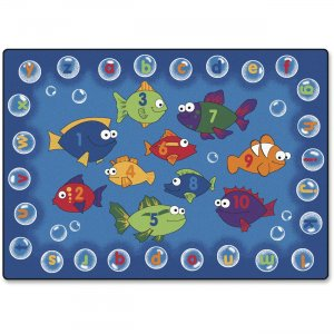 Carpets for Kids 6817 Fishing 4 Literacy Rectangle Rug