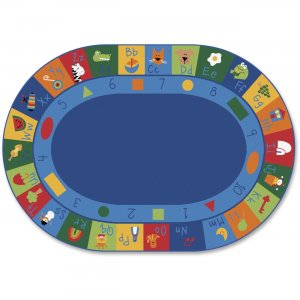 Carpets for Kids 7008 Learning Blocks Oval Seating Rug