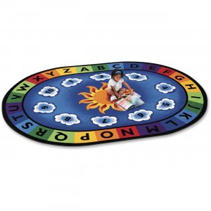 Carpets for Kids 9445 Sunny Day Learn/Play Oval Rug