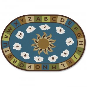 Carpets for Kids 94708 Sunny Day Learn/Play Oval Rug