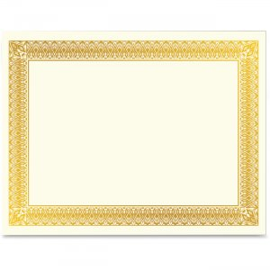 Geographics 47829 Gold Foil Certificate