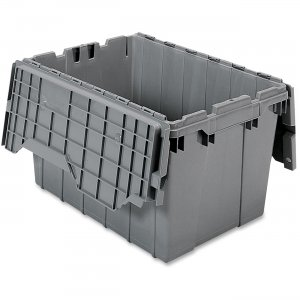 Akro-Mils 39120GREY Attached Lid Container